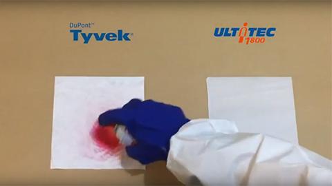 ULTITEC1800 & Tyvek 面料化學測試