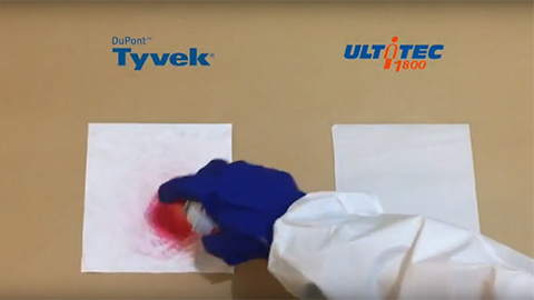 ULTITEC 1800 & Tyvek Fabric Test – Spray paint and WD40