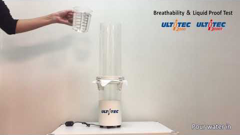 How to operate breathability & liquid-proof test machine