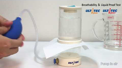 How to operate breathability and liquid-proof handy test machine